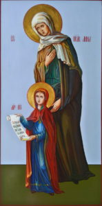 Анна Праведная, мать Пресвятой Богородицы.