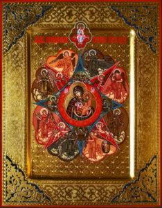 Неопалимая Купина Рукописная икона Пресвятой Божией Матери