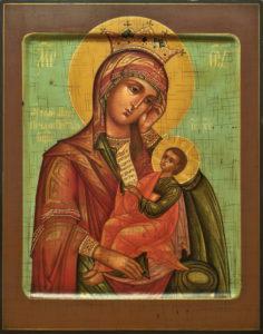 Утоли моя печали. Рукописная икона Богородицы.