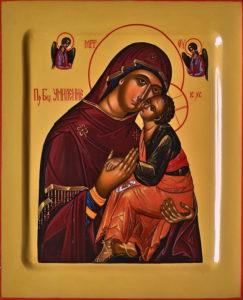 Умиление. Рукописная икона Пресвятой Божией Матери.