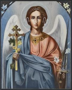 Рукописная икона Святого Ангела-Хранителя