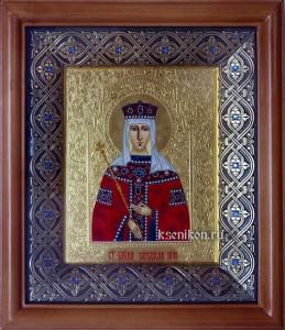 Елена Сербская. Икона в киоте.
