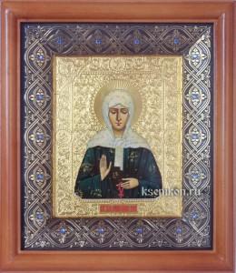 Матрона Московская. Икона в киоте.