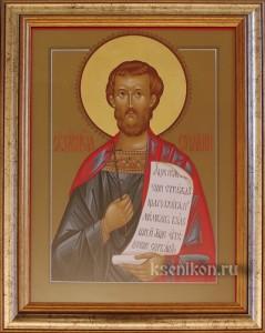 Иоанн Новый. Икона в раме.