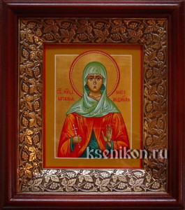Наталия Никомидийская. Икона в киоте.