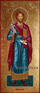Платон Анкирский. Мерная икона с резьбой по золоту.