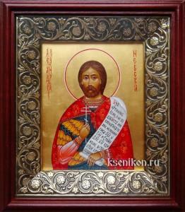 Александр Невский великий князь. Икона в киоте.