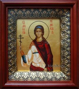 Вера Римская. Икона в киоте.