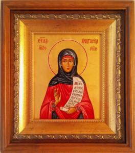 Анастасия Римляныня, Солунская (Фессалони-кийская). Икона в киоте.
