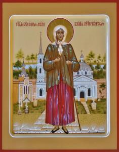 Ксения Петербургская, святая блаженная. Рукописная икона.