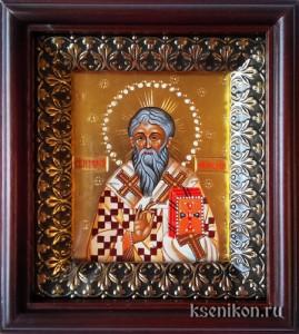 Иерофей Афинский. Икона в киоте.