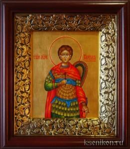 Кирилл Севастийский. Икона в киоте.