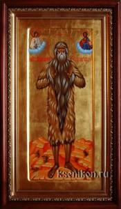 Макарий Египетский. Икона в киоте.