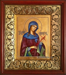 Маргарита Антиохийская. Икона в киоте.