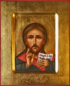 Господь Вседержитель. Рукописная икона.
